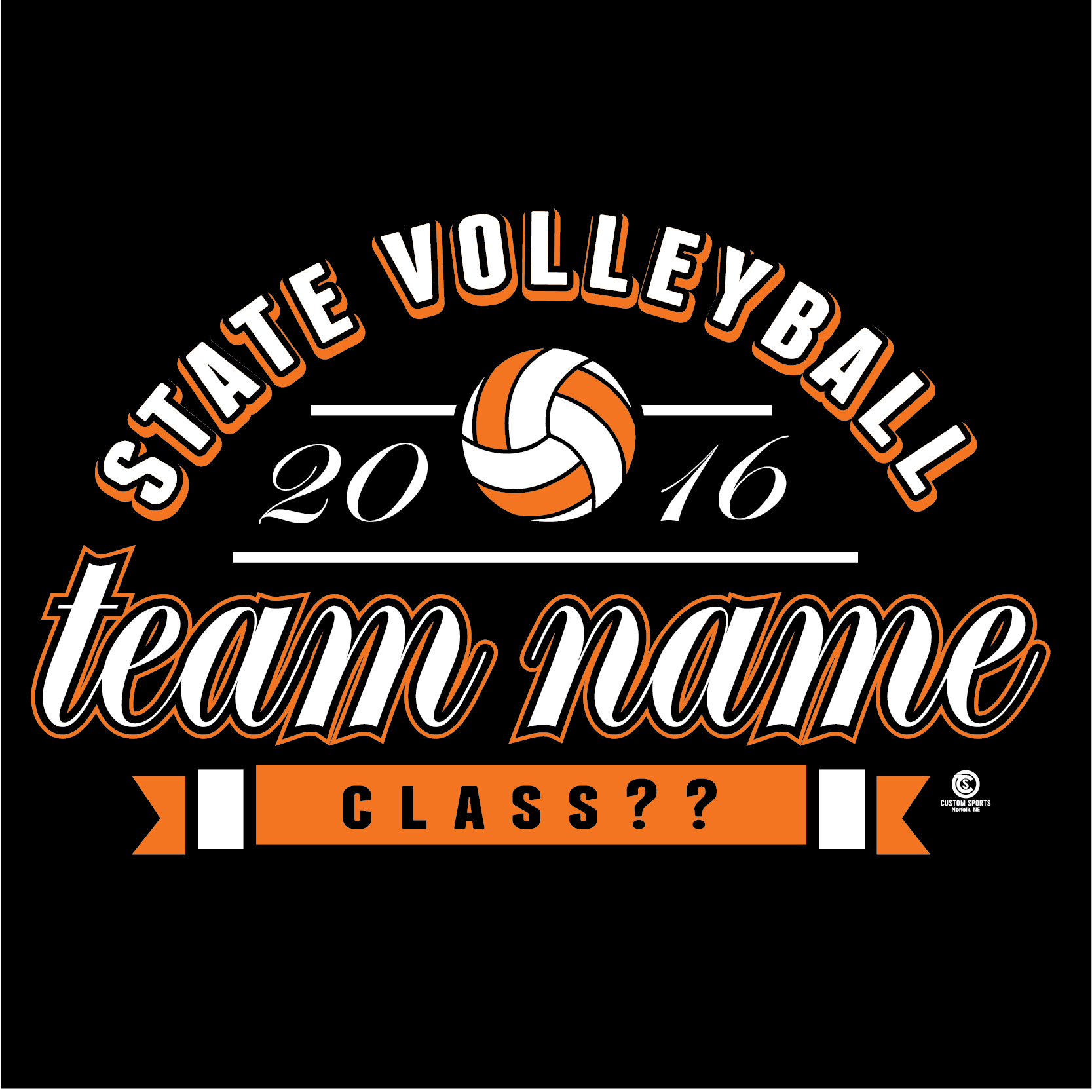 T shirt design volleyball - State Volleyball Web 12
