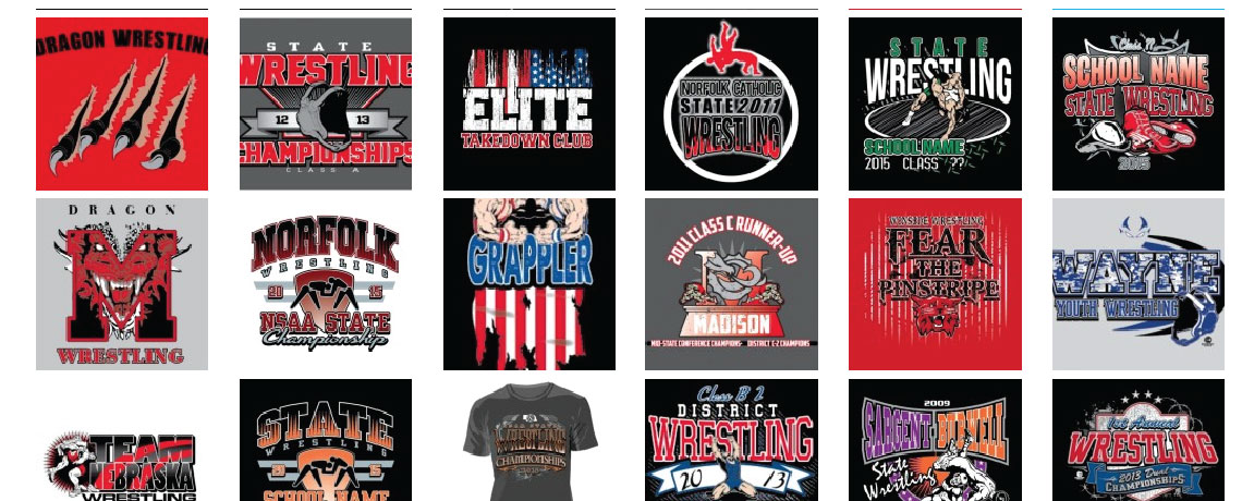 wrestling designs - Team T Shirt Design Ideas