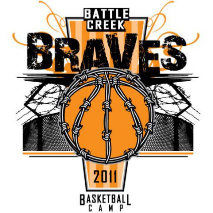 battle creek braves basketball - Basketball T Shirt Design Ideas