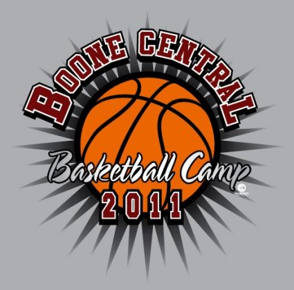 boone central basketball camp - Basketball T Shirt Design Ideas