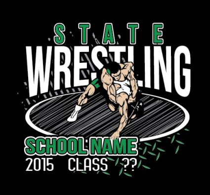 0953cb74 Wrestling T-Shirt Designs and Screenprinting — Custom Sports